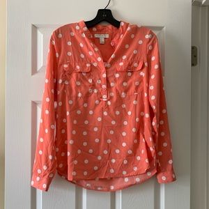 Pink/Coral long sleeve blouse